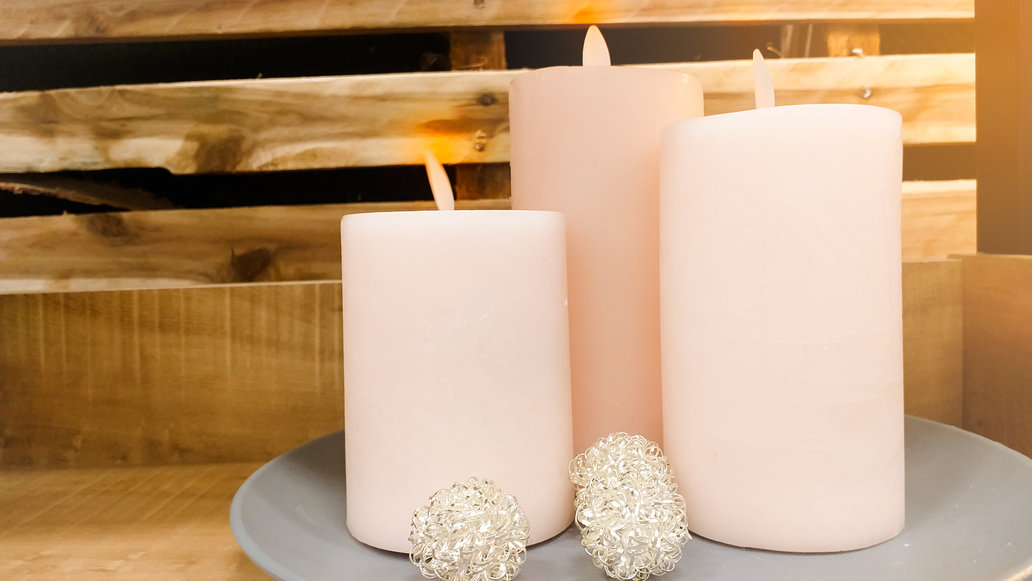 Three artificial Candle  Put the battery to make light.